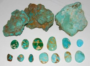 Turquoise samples