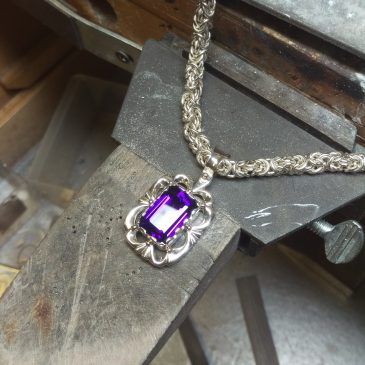 How Is Custom Jewelry Made?  Amethyst Pendant part 2